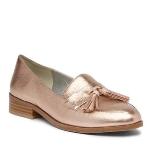 """Kenneth Cole """"Jet Forward"""" Rose Gold Loafers Sz 7"""